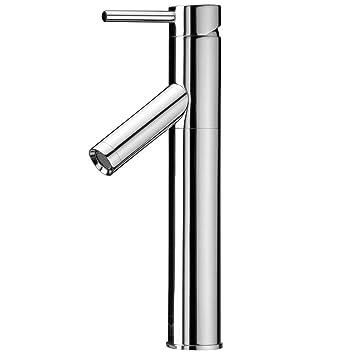 VIGO Dior Single Lever Vessel Bathroom Faucet, Chrome