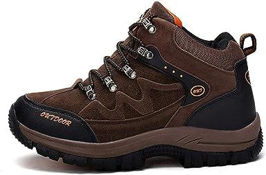 Los hombres de peso ligero de excursión el zapato, Trail running zapatillas de deporte al aire libre, transpirable senderismo zapatos para caminar, antideslizante y anti-colisión: Amazon.es: Ropa y accesorios