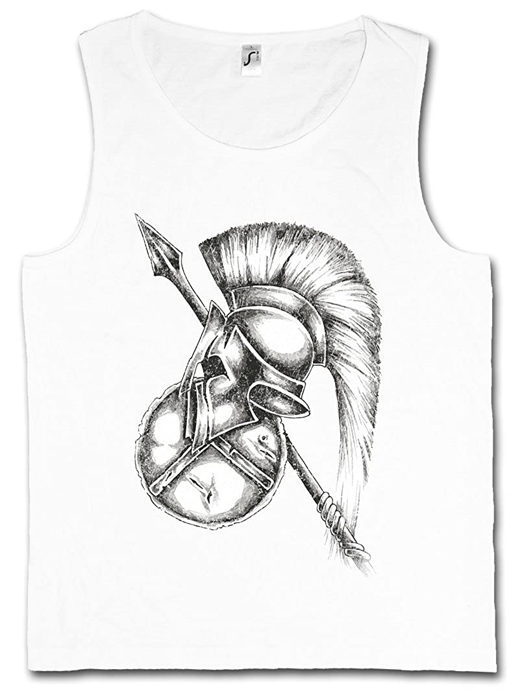 5XL Credo Sparta Spartans Helmet Leonidas 300 Sizes S Spartan Motto Tank TOP Vest