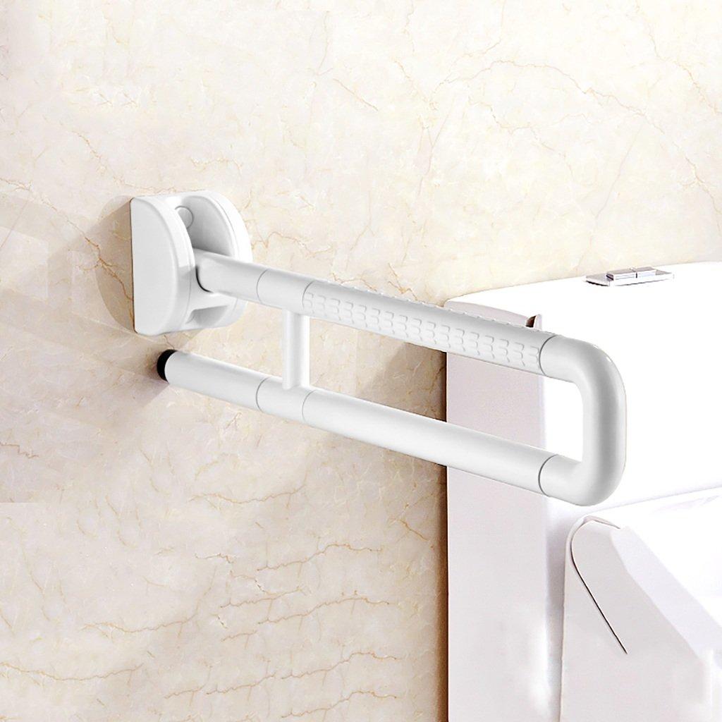 バスルーム手すりステンレススチールパンチ折りたたみ障害者、高齢者安全バリアフリーハンドル、手すりフレーム壁掛けバスルーム、トイレ、バスタブ (色 : 白, サイズ さいず : 75 cm 75 cm) B07DD59S6P 75 cm 75 cm 白 白 75 cm 75 cm
