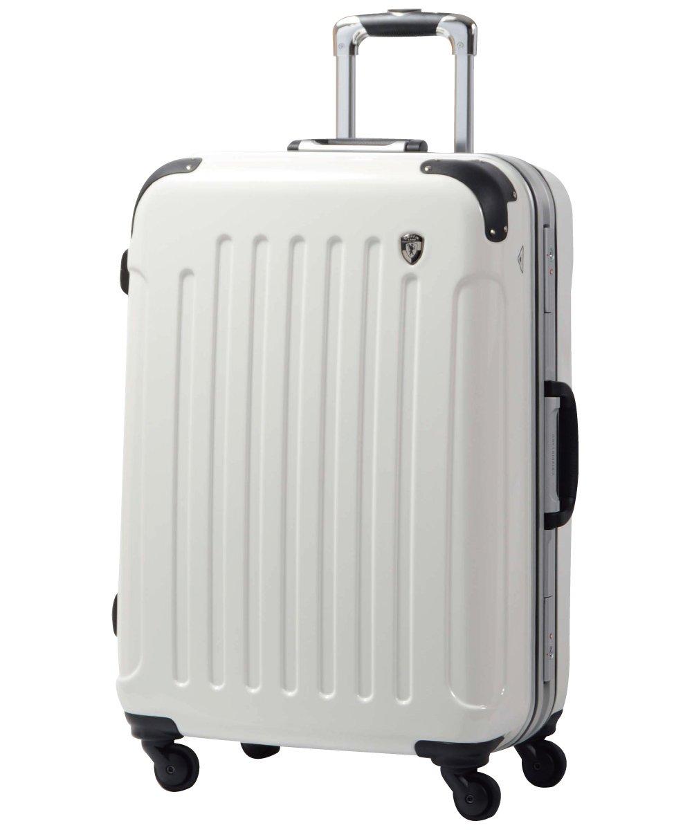 [グリフィンランド]_Griffinland TSAロック搭載 スーツケース 軽量 アルミフレーム ミラー加工 newPC7000 フレーム開閉式 B078JJ6G63 S(小)型+【名前刻印】|シルクホワイト シルクホワイト S(小)型+【名前刻印】