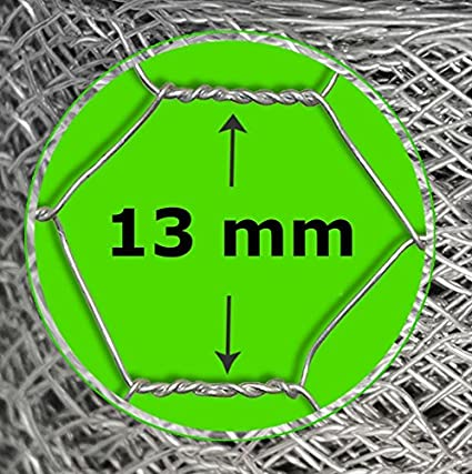 Hexagonal Wired Mesh Fencing Green PVC Coated Multiple Lengths and Heights 0.50m x 10m 13 mm casa pura Wire Mesh Roll