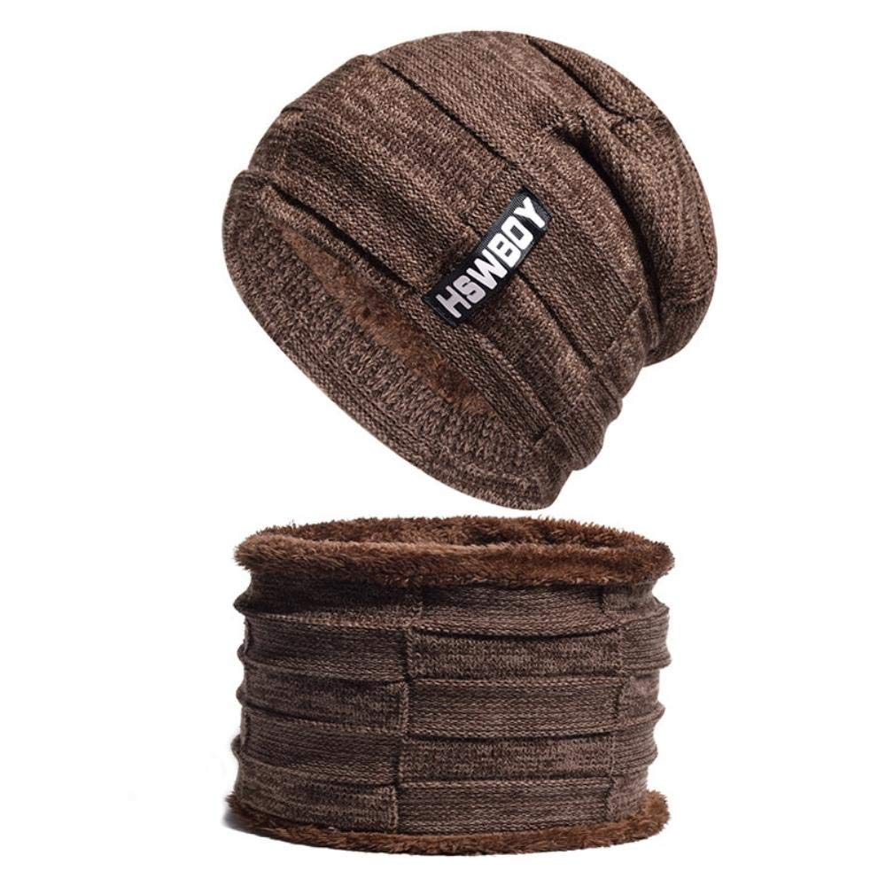 Winter Hat Skullies Beanies Hat Winter Beanies for Men Women Wool Scarf Cap Balaclava Mask Gorras Bonnet Knitted Hats (Black) at Amazon Mens Clothing store ...