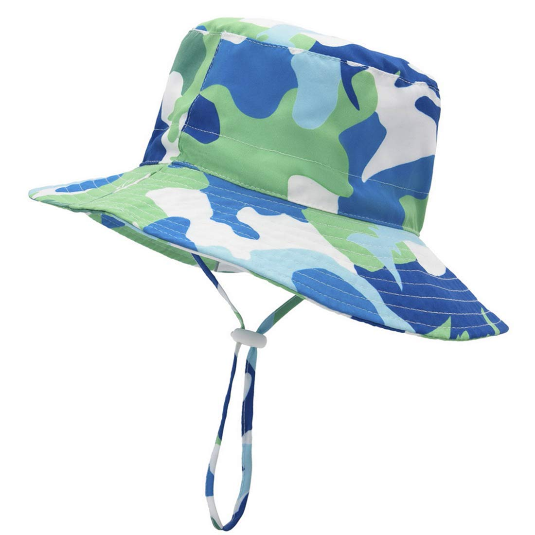 Achiyi Baby Boys Girls Adjustable Sunhat UV Protection Outdoor Bucket Fishermen Cap with Chin Strap Wide Brim