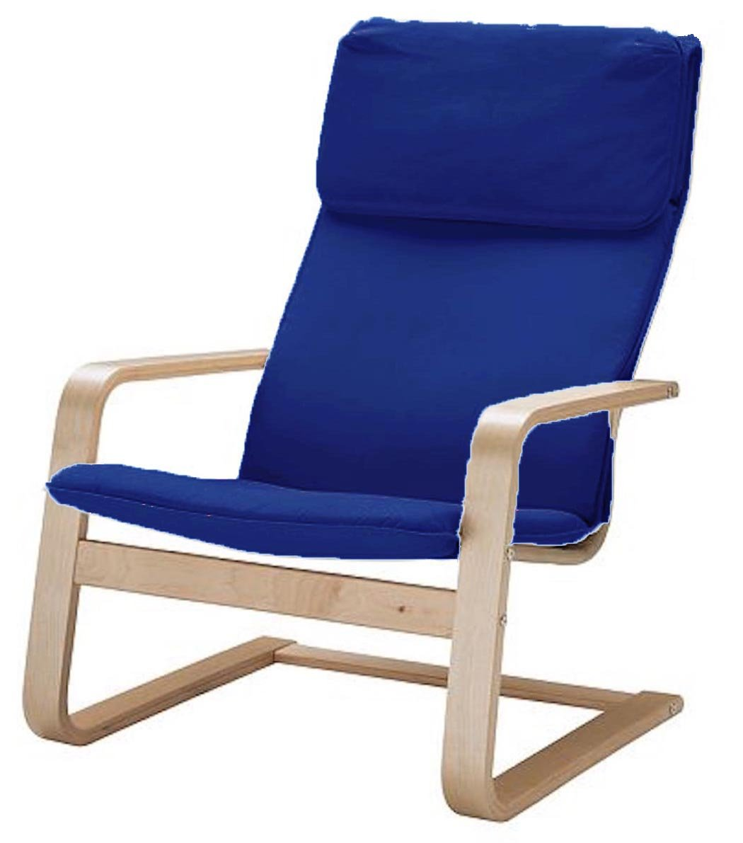 Amazon com the pello chair cotton covers replacement is custom made for ikea pello chair cover or pello armchair slipcover multi color options blue