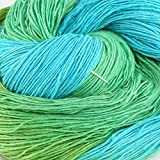 Soft Silky Fingering Lace Weight Silk Yarn - Perfect for Creating Cardigans, Sweaters, Socks, Shawls - Mermaid at the Sea