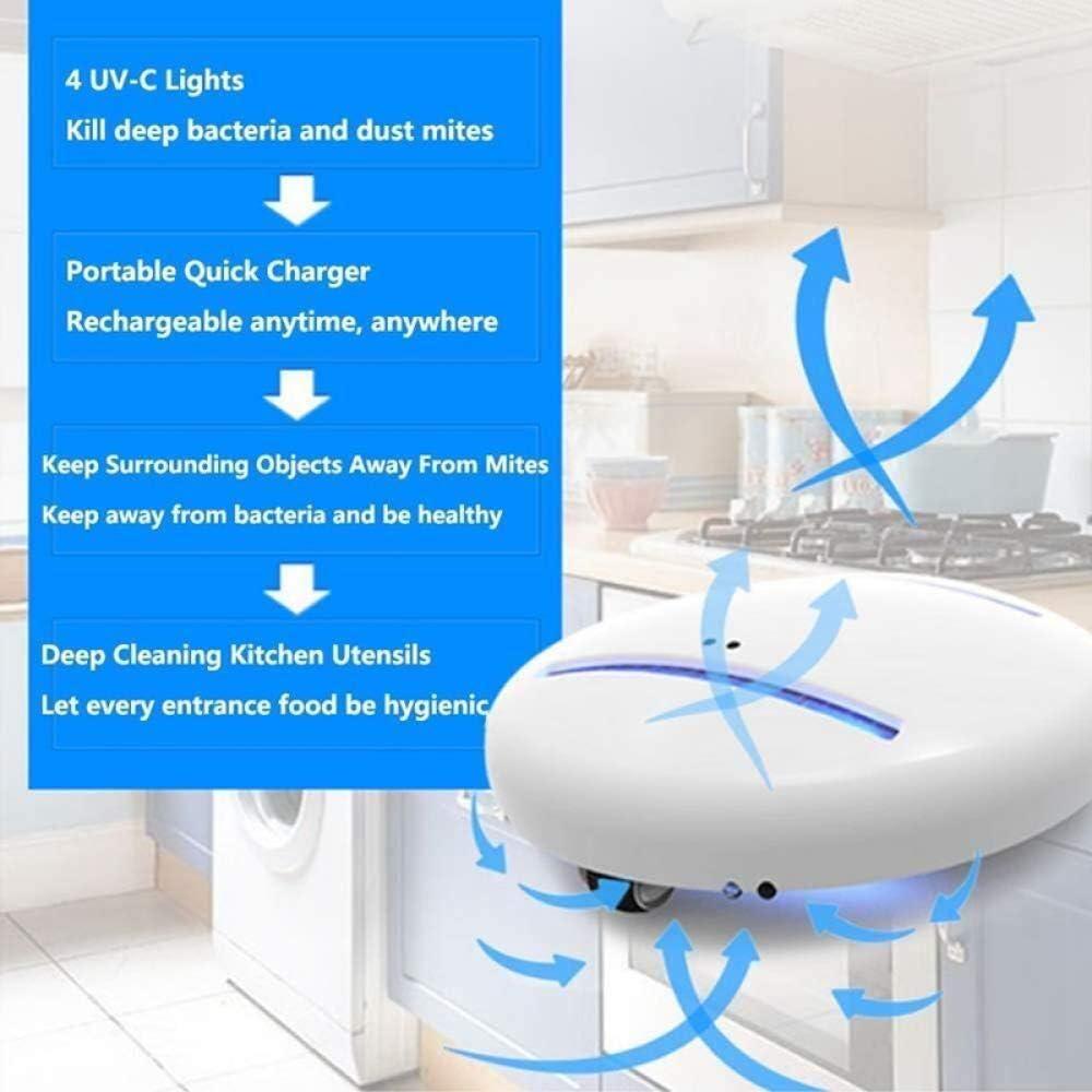 Caja de desinfecci/ón Robot para matar bacterias Pr/áctico y conveniente hogar y viaje a casa esterilizador ultravioleta robot asesino de /ácaros