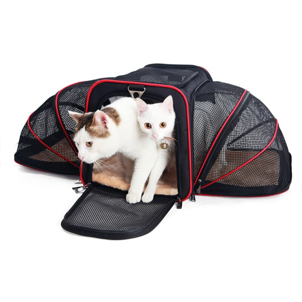 L Pet Carrier Dog Cage Cat Cage Pet Out Portable Car Bag Air Box Travel Dog Bag Backpack (Size   L)