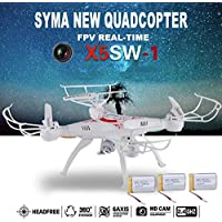 Cewaal 3 Battery 2.4G 2MP 6-Axis RC Quadcopter Kits FPV Drone with Live Video Camera Remote Control Drone Helicopter RC