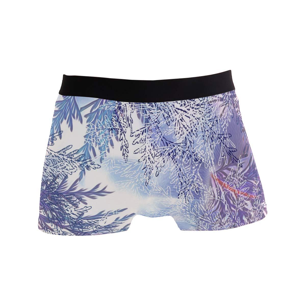 My Little Nest Watercolor Twig Mens Boxer Brief Short Leg Underwear XL