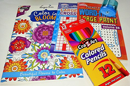 t Activity Pack for Men and Women Adult Coloring Book Word-Find Crossword Puzzles (Find Crossword Puzzle)