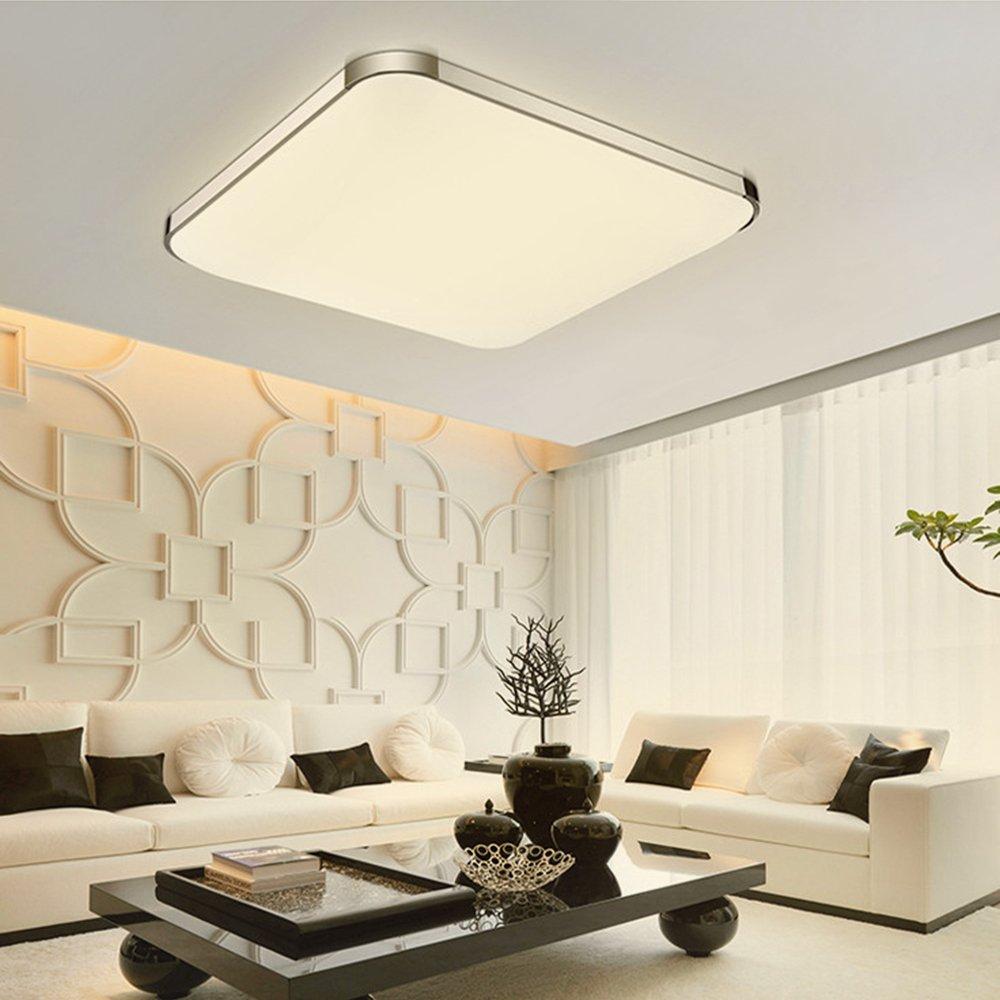 Cherry Juilt 16-inch LED Flush Mount Ceiling Light Square Aluminum for Bedroom Living Room 24w (warm white)