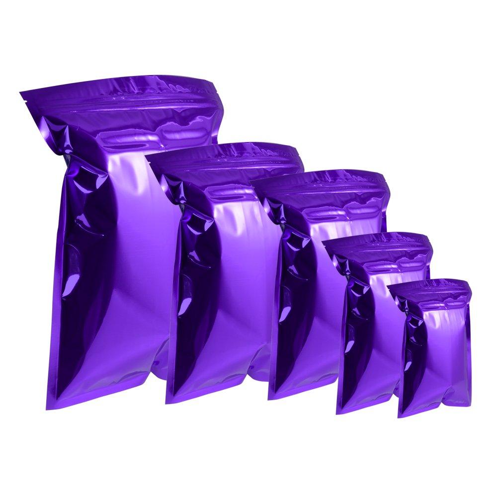Zip Lock アルミホイル ダブルカラーパッケージバッグ 100個 ピル用 ジュエリー梱包 マイラーセルフシール 食品グレードストレージバッグ 7.1