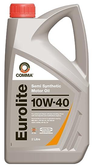 Comma EUL2L Eurolite - Aceite semisintético de Motores de vehículos (10W-40, 2 l): Amazon.es: Coche y moto