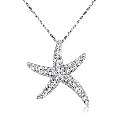 Amazon.com: MYVATN - Collar con colgante de estrella de mar ...