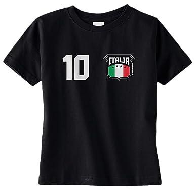 Amazon Com Threadrock Unisex Baby Italia Shield Number Infant T