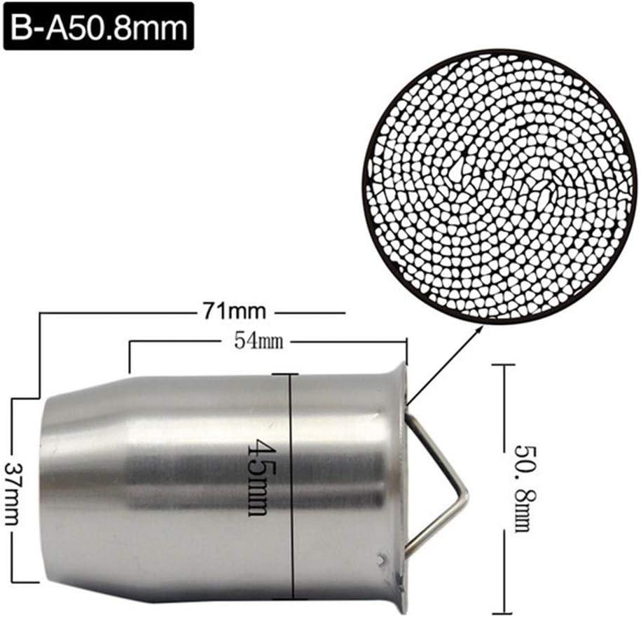 51mm 60mm Inlet Motorrad Auspuff Adjustable Db Killer Schalldämpfer Lärm Eliminator Vorne Katalysator Color B A50 8 Auto