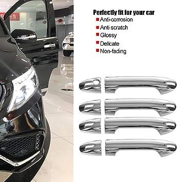 8 pzas cromo Cubiertas de la manija de la puerta lateral, Accesorios de manija de puerta exterior de ABS de coche para W447 2014-2017: Amazon.es: Coche y ...