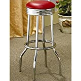 Best Coaster Home Furnishings Furniture Creations Fountains - Cleveland Soda Fountain Barstool - Set of 2 Review