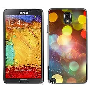 All Phone Most Case / Oferta Especial Duro Teléfono Inteligente PC Cáscara Funda Cubierta de proteccion Caso / Hard Case Samsung Note 3 N9000 // Bokeh Lights