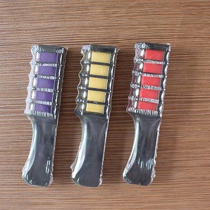 6 colores temporales de tiza peine lavable no tóxico temporal ...