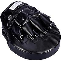SOONHUA Boksen Pads Focus Wanten   Mat Zwart ConvEX Skin Leather Gebogen Hand Pad met Verstelbare Riem   Haak en Jab…