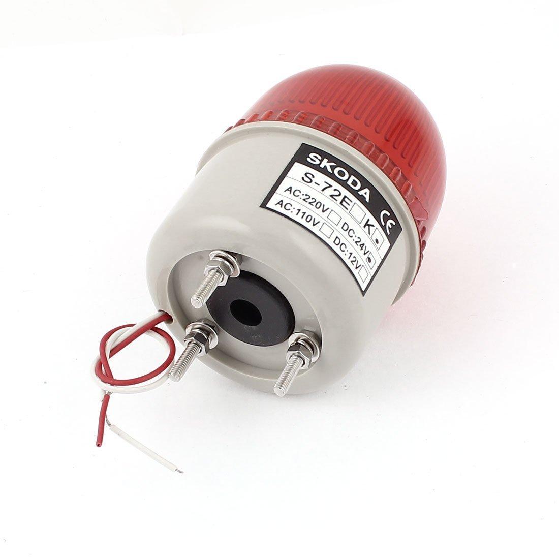 eDealMax DC 24V zumbador de sonido rojo de advertencia de la torre de luz de lámpara de señal Industrial - - Amazon.com