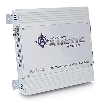 Pirámide PB717X Serie Ártico 1000W 2 Channel MOSFET Amplificador estéreo del coche