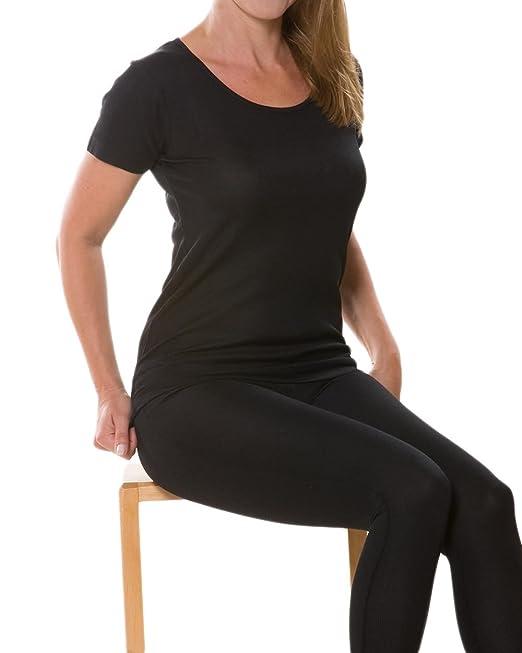 Foster-Natur Damen T-Shirt/Unterhemd Kurzarm, Seide & Baumwolle: Amazon.de:  Bekleidung