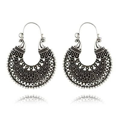 b185b9228 Amazon.com: Cyntan Drop Earrings Ethnic Retro Tribe Earrings Indian For  Women Crescent Drops Mexican Gypsy Dangle Earrings Gold Tone: Jewelry