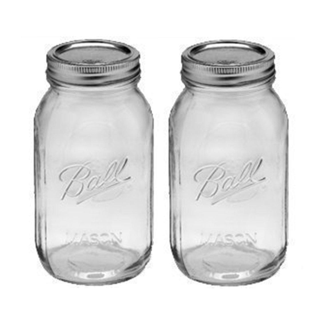 Amazon.com: 1 - 32oz Regular Mouth Ball Canning Mason Jar (Pack Of 2 ...