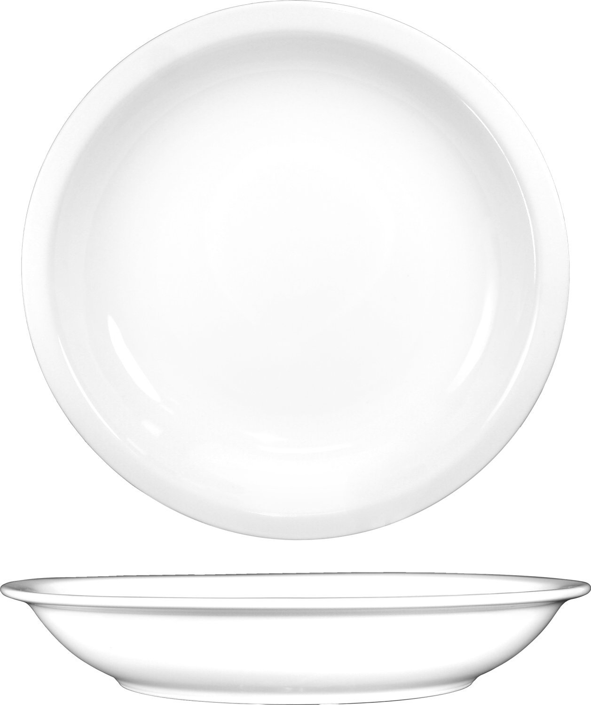 ITI BL-105 Bristol Porcelain 14-Inch Fine Porcelain Salad/Pasta Bowl, 106-Ounce, Bright White, 6-Piece