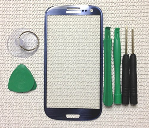 Pebble Blue Replacement Screen Glass Lens for Any Samsung Galaxy S3 i9300 - Time First Class Priority Delivery Mail