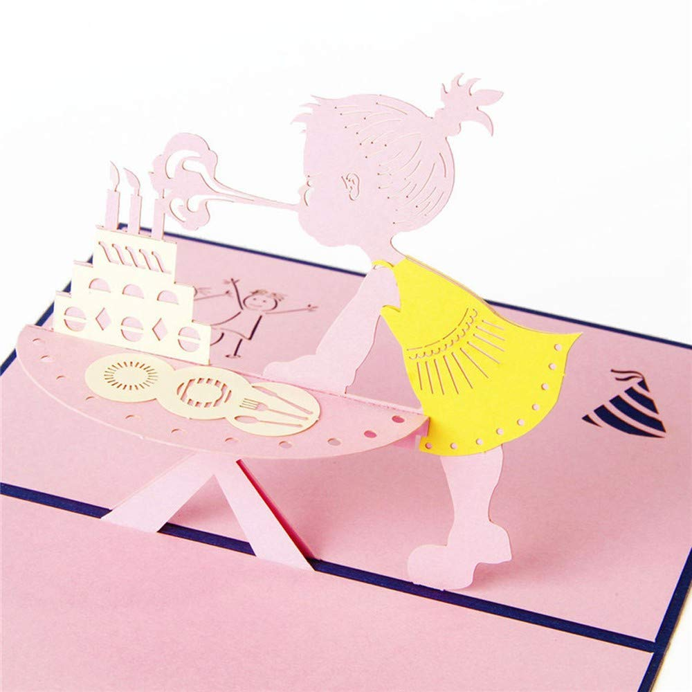 WOZOW 3D Pop Up Cards Tarjetas de felicitación de Aniversario de Feliz cumpleaños de San Valentín: Amazon.es: Juguetes y juegos