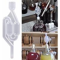 2pcs plástico de alta transparente ONE WAY válvulas de válvula de escape de agua sellado para cerveza de fermentación del vino Making Brewing