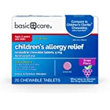 Basic Care Children's Allergy Relief, Loratadine Chewable Tablets, 5 mg, Antihistamine, 20 Count