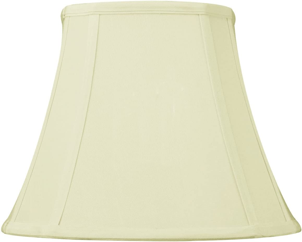 HomeConcept 671209FOES French Oval Piped Egg Shell Lampshade with Brass Spider Fitter by Home Concept, 6 x 10 x 9