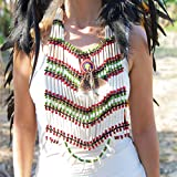 Novum Crafts | Indian Style Choker | Native American Style Breastplate Necklace