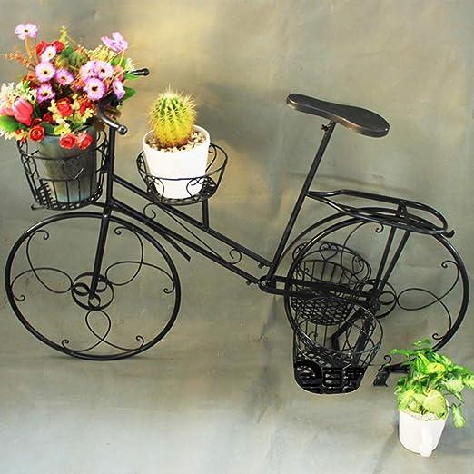 Puesto de flores Estante De Flores Arte De Hierro Bicicleta De Pie ...