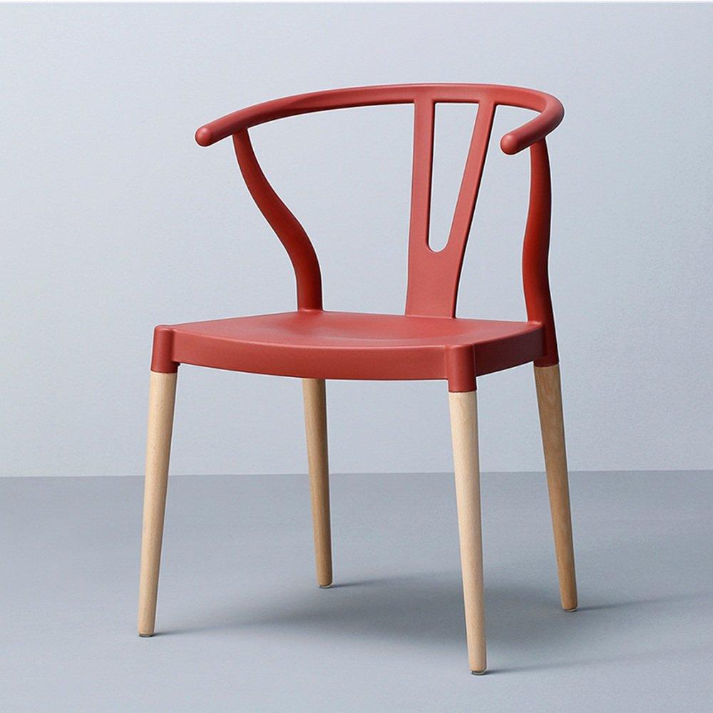 Red2 European Chair Armchair Dining Chair Simple Creative Designer Chair Chairs Multiple Colour (color   White)
