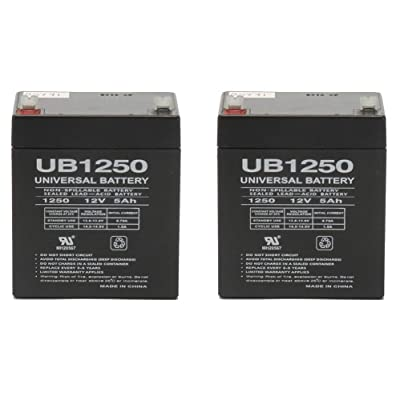 Universal Power Group New 12V 5Ah Sealed Lead Acid AGM Battery UB1250 Casil CA1245 Alarm System - 2 Pack : General Use Batteries : Sports & Outdoors