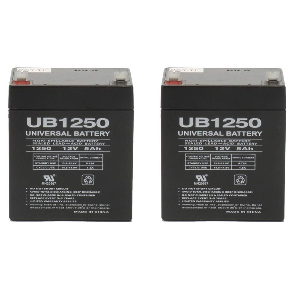 Set of 2 Razor E175 12 Volt 5AmpH SLA Replacement Scooter Batteries by Universal Power Group