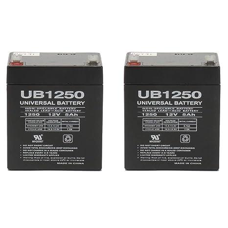 amazon com: set of 2 razor e175 12 volt 5amph sla replacement scooter  batteries: automotive
