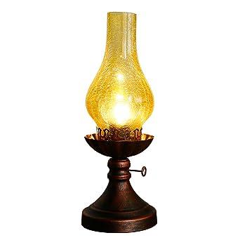 Pétrole Antique Chevet VintageDe Chambre Créative Lampe À Pk0nwO