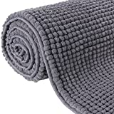 Lifewit 63'' x 20'' Bath Runner Chenille Rug Living Room Area Rugs Kitchen Machine Washable Dark Grey