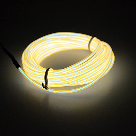 Car Lights Energetic Possbay Flexible Led Strip Light Neon Lights Glow El Wire Rope Tube Cable Wire Dance Light Car Styling 4m Automobiles & Motorcycles