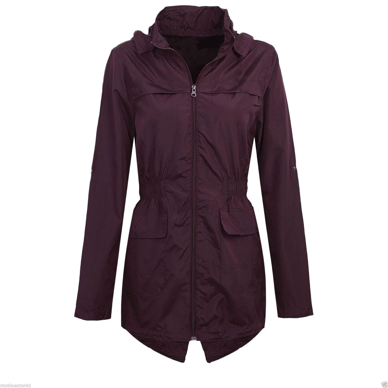 Shelikes Girls Kids Hooded Mac Light Showerproof Rain Jacket