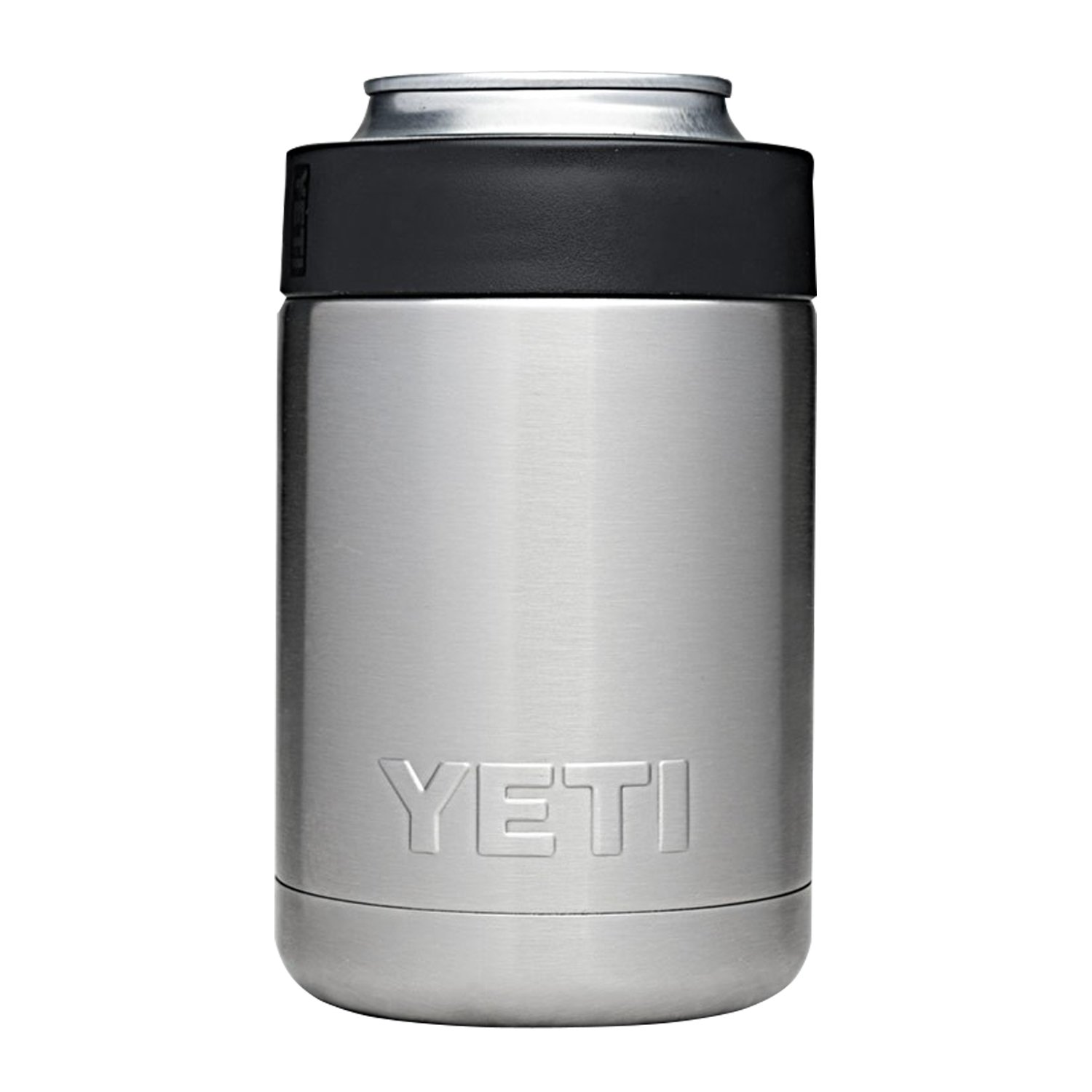 f52b38d61af Amazon.com: YETI Rambler Colster Can and Bottle Holder Silver One Size:  Sports & Outdoors