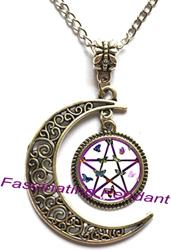 Pentagram Locket Necklace Wiccan Jewelry Wiccan Locket Necklace Astrology Locket Pendant,AE0054 New Locket Necklace,Pentagram Locket Pendant Pentagram Jewelry Wiccan Locket Pendant