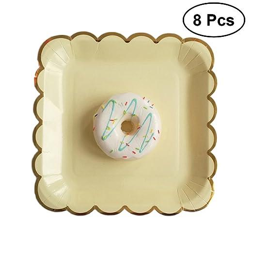 ToyMYTOY - 8 platos de papel desechables para fiesta de ...